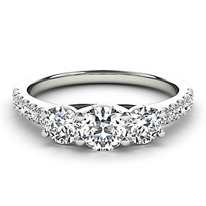 Arctic Brilliance 18ct white gold 1ct 3 stone diamond ring - Product number 3603180