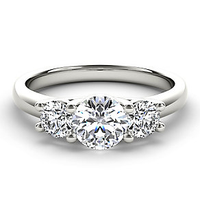 Arctic Brilliance 18ct white gold 1ct 3 stone diamond ring - Product number 3603326