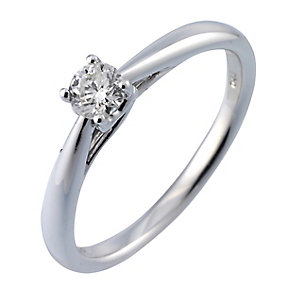 9ct white gold quarter carat diamond ring - Product number 3608662