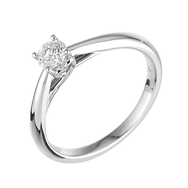 9ct white gold third carat solitaire ring ernest