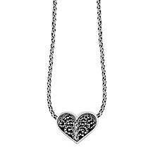 Lois Hill sterling silver 16 inch heart pendant necklace - Product number 3612082