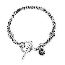 Lois Hill sterling silver indian braid t-bar bracelet - Product number 3612333
