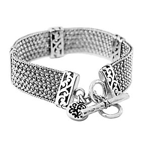 Lois Hill sterling silver 7 inch Thai weave bracelet - Product number 3612627