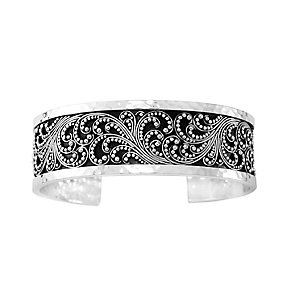 Lois Hill sterling silver medium granulated cuff - Product number 3612694
