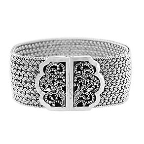 Lois Hill sterling silver 6 inch Thai weave bracelet - Product number 3612708