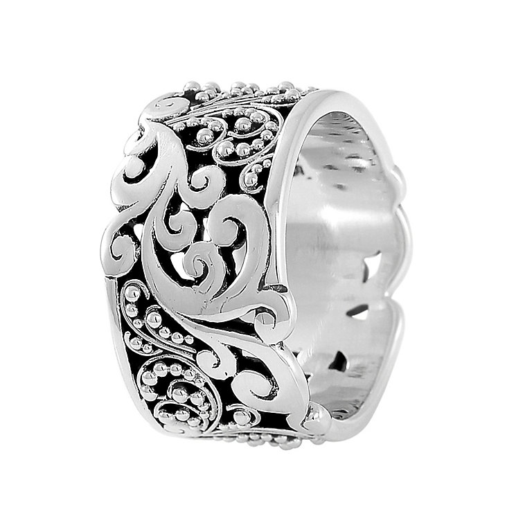 Lois Hill sterling silver cigar band ring size medium - Product number 3612961