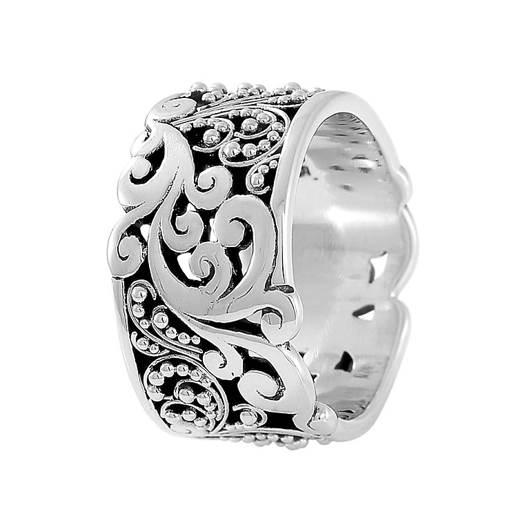 Lois Hill sterling silver cigar band ring size large - Product number 3612988