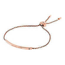 Michael Kors rose gold-plated logo bracelet - Product number 3615510