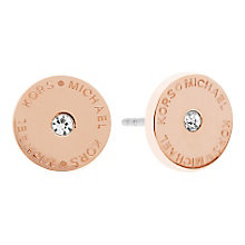 Michael Kors Rose Gold Tone Logo Stud Earrings - Product number 3616886