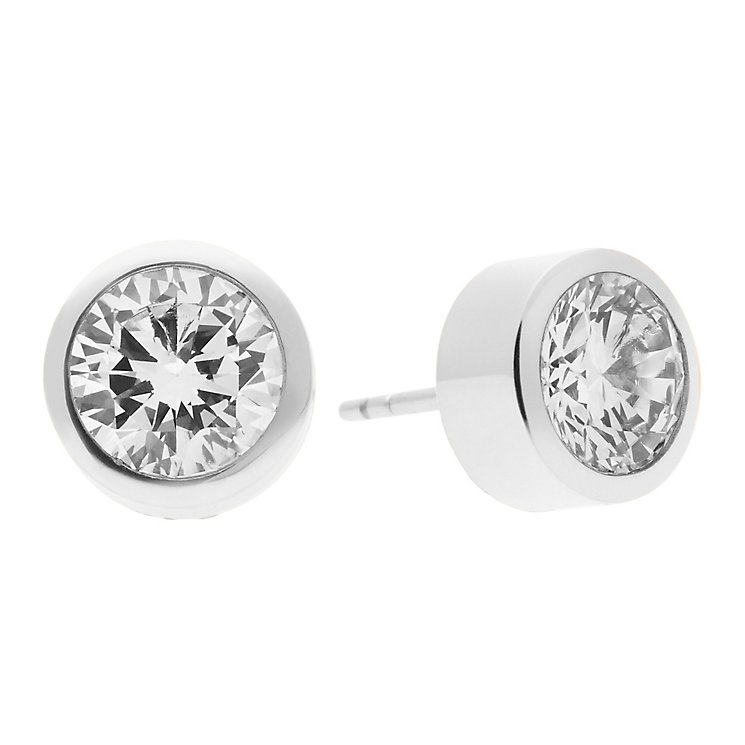Michael Kors Park Avenue Stainless Steel Pave Stud Earrings - Product number 3616975