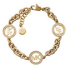 Michael Kors Fulton Gold Tone Stone Set Bracelet - Product number 3617017