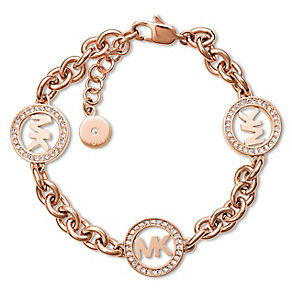 Michael Kors Fulton Rose Gold Tone Stone Set Bracelet - Product number 3617130