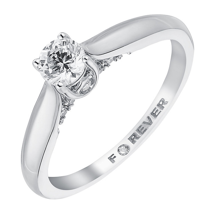 The Forever Diamond 18ct White Gold 2/5 Carat Ring - Product number 3617548