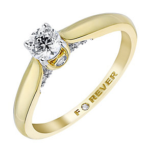 The Forever Diamond 18ct Yellow Gold 2/5 Carat Ring - Product number 3618749
