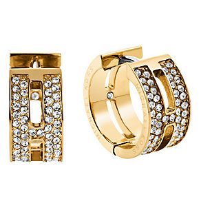 Michael Kors Gold Tone Pave Huggie Earrings - Product number 3621251