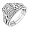 Perfect Fit 9ct White Gold 2/3 Carat Diamond Bridal Set - Product number 3622452