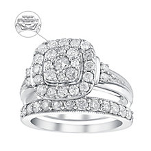 Perfect Fit 9ct White Gold 1.25 Carat Diamond Bridal Set - Product number 3622932