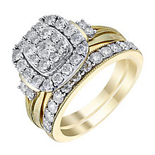 Perfect Fit 9ct Yellow Gold 1.25 Carat Diamond Bridal Set - Product number 3623130