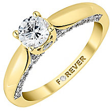 18ct Yellow Gold 1 Carat Forever Diamond Solitaire Ring - Product number 3623963