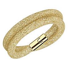 Swarovski Stardust Deluxe goldenshadow crystal bracelet M - Product number 3625397