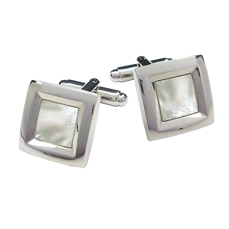 Square Mother Of Pearl Cabochon Cufflinks - Product number 3625834