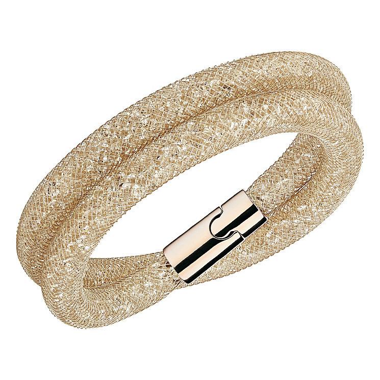 Swarovski Stardust Deluxe Rose Gold Crystal Bracelet M