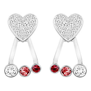 Swarovski Duo white crystal heart earring jackets - Product number 3626830