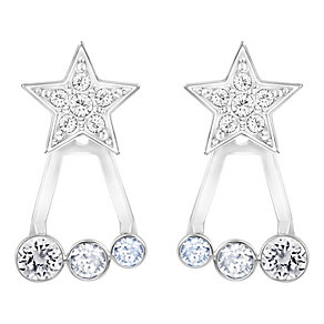 Swarovski Duo siam & white crystal star earring jackets - Product number 3626849