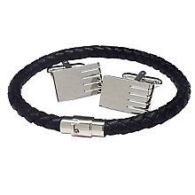 Black & Silver Tones Bracelet & Cufflink Set - Product number 3626903