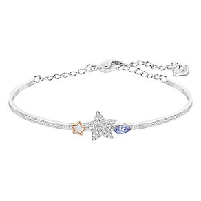 Swarovski Duo siam & white crystal star bangle - Product number 3628639