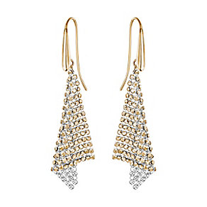 Swarovski Fit small crystal mixed-plated drop earrings - Product number 3628663