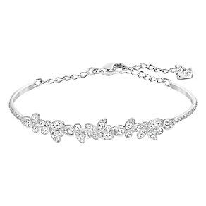 Swarovski Diapason medium crystal rhodium-plated bangle - Product number 3628760