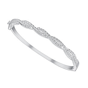 Sterling Silver Twist Bangle - Product number 3628981