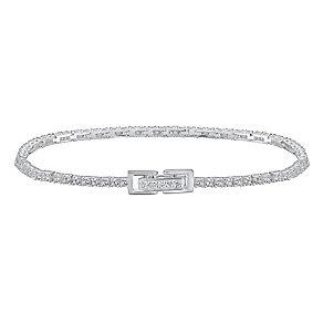 Sterling Silver Stone Set Tennis Bracelet - Product number 3629074
