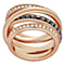 Swarovski Dynamic rose gold-plated crystal ring size L - Product number 3629201