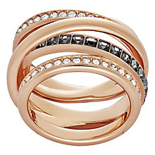 Swarovski Dynamic rose gold-plated crystal ring size P - Product number 3629333