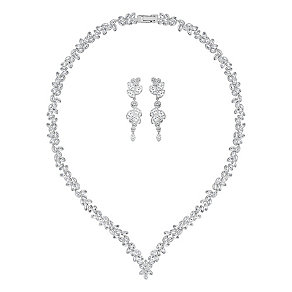 Swarovski Diapason crystal rhodium-plated pendant & earrings - Product number 3629376