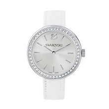 Swarovski Daytime ladies' crystal white leather strap watch - Product number 3629538