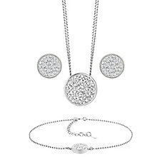 Evoke Silver Rhodium-Plated Pendant, Bracelet & Stud Earring - Product number 3630749
