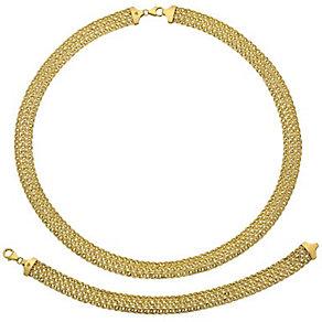"""9ct Gold 18"""" Necklace & 7.25"""" Bracelet Set - Product number 3630951"""
