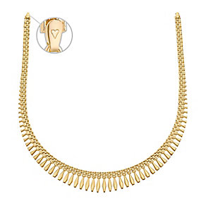 "Together Bonded Silver & 9ct Gold 16.5"" Plain Cleo Necklace - Product number 3631524"