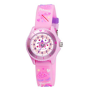 Tikkers Children's Princess 3D Pink Silicone Strap Watch - Product number 3631826