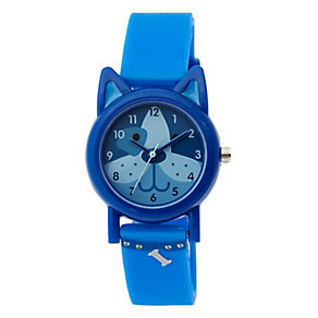 Tikkers Children's Dog Dial Blue Silicone Strap Watch - Product number 3631842