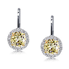 Carat* sterling silver brilliant border drop earrings - Product number 3638561