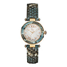 Gc Lady ladies' gold-plated turquoise leather strap watch - Product number 3638898