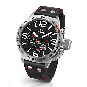TW Steel Canteen men's stainless steel black strap watch - Product number 3639126