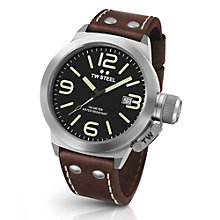 TW Steel Canteen men's stainless steel black strap watch - Product number 3639142