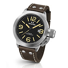 TW Steel Canteen men's stainless steel black strap watch - Product number 3641724