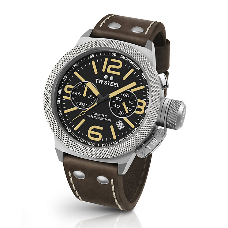 TW Steel Canteen men's stainless steel black strap watch - Product number 3642062