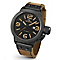 T.W. Steel Canteen men's ion-plated tan leather strap watch - Product number 3642119
